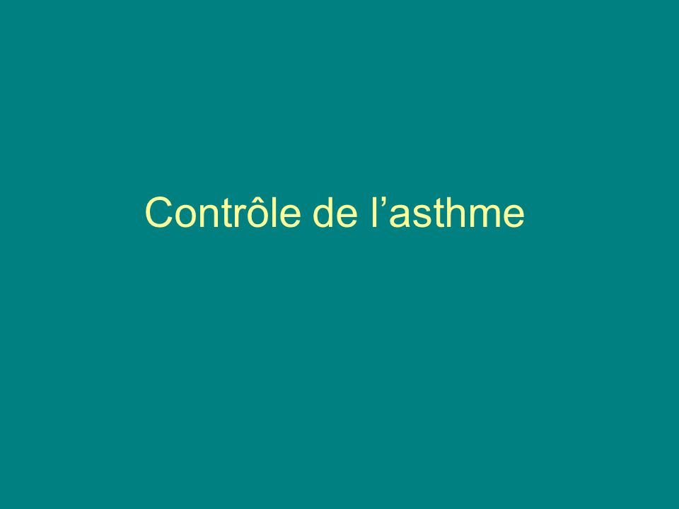 Contrôle de l'asthme