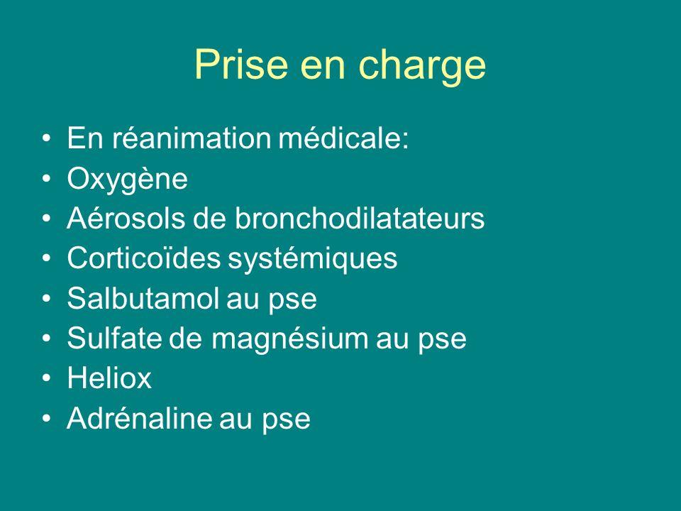 Prise en charge En réanimation médicale: Oxygène