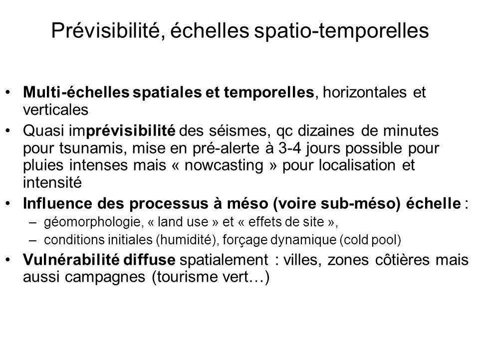 Prévisibilité, échelles spatio-temporelles