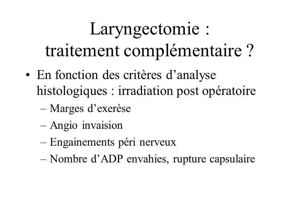 Laryngectomie : traitement complémentaire