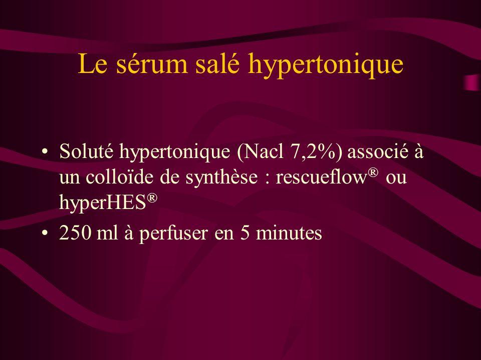 Le sérum salé hypertonique