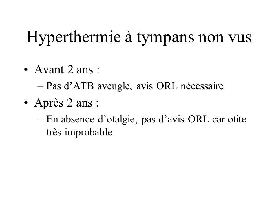 Hyperthermie à tympans non vus