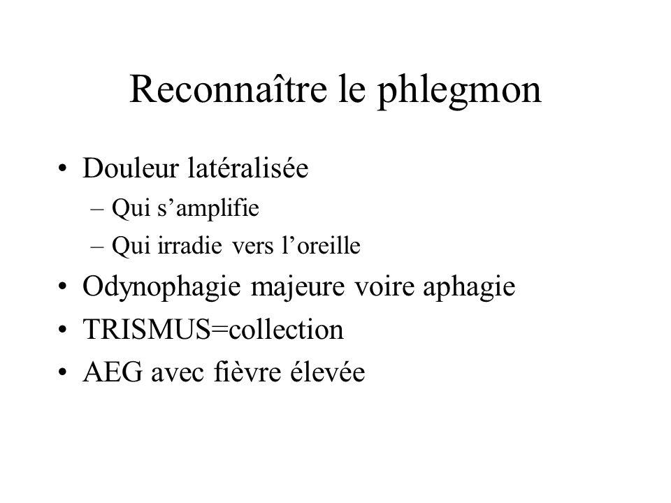 Reconnaître le phlegmon