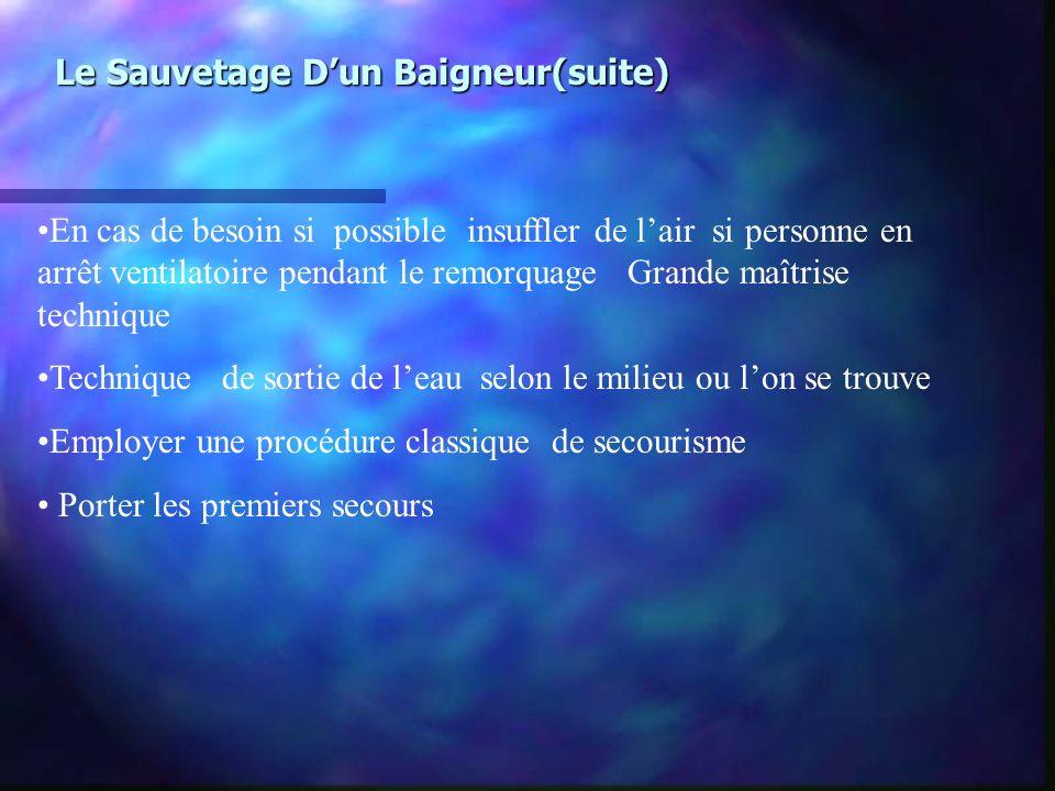 Le Sauvetage D'un Baigneur(suite)