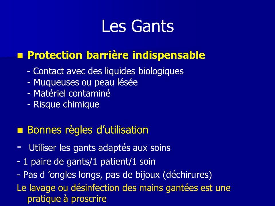 Les Gants - Utiliser les gants adaptés aux soins