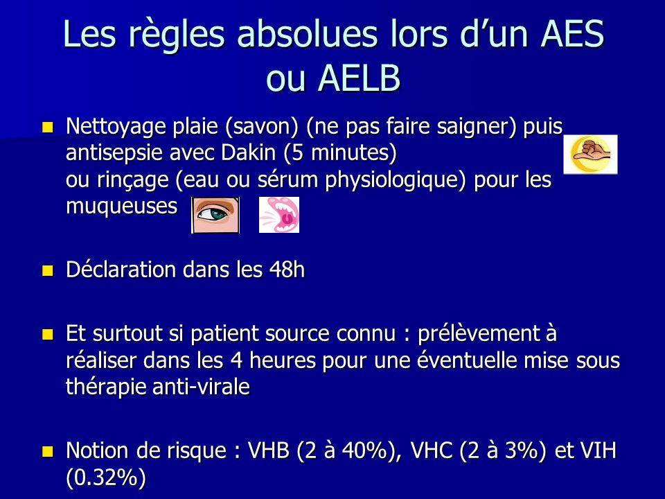 Les règles absolues lors d'un AES ou AELB