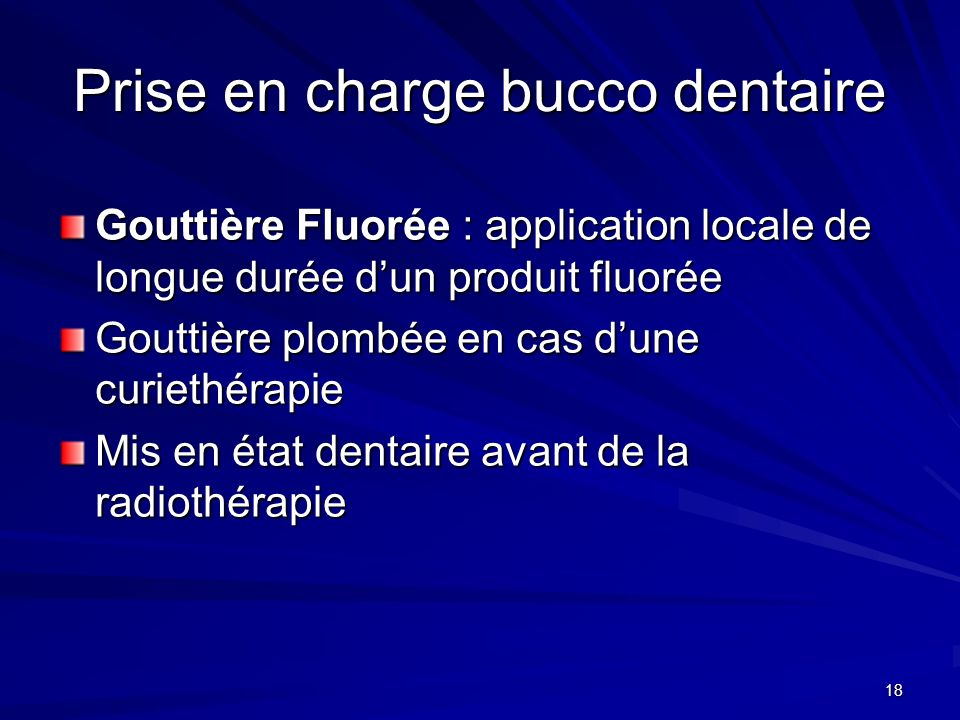 Prise en charge bucco dentaire