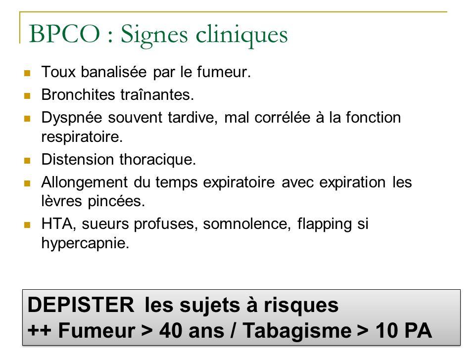 BPCO : Signes cliniques