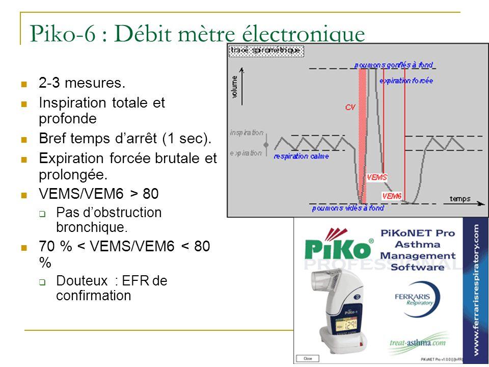 Piko-6 : Débit mètre électronique
