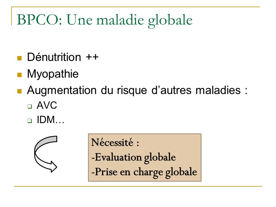 BPCO: Une maladie globale