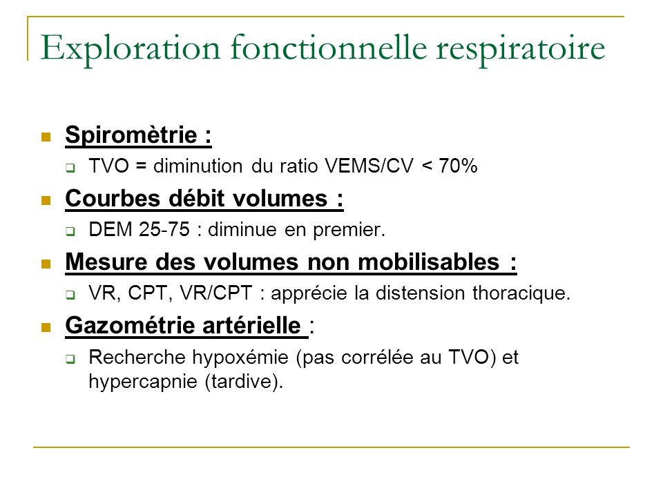 Exploration fonctionnelle respiratoire