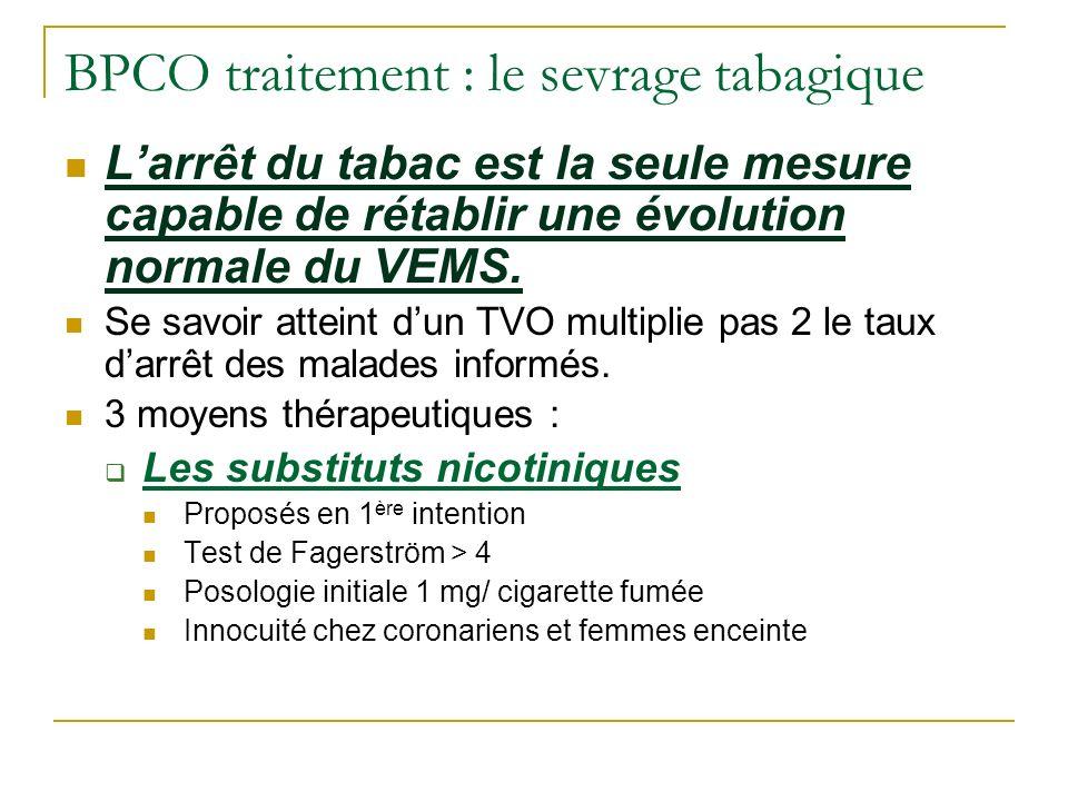 BPCO traitement : le sevrage tabagique