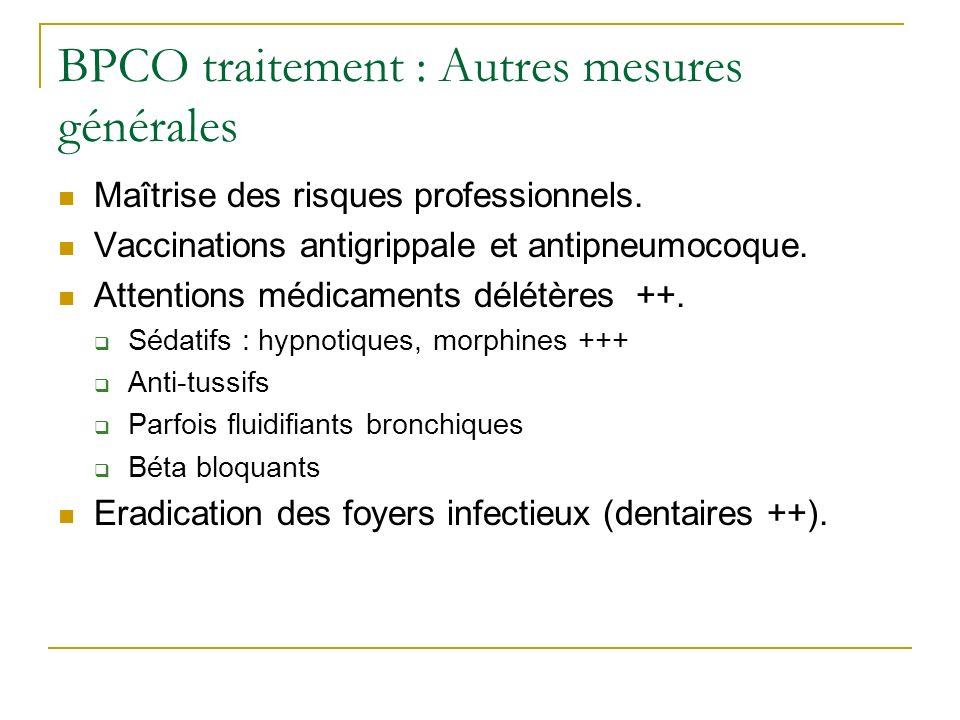 BPCO traitement : Autres mesures générales