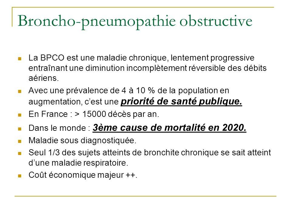 Broncho-pneumopathie obstructive
