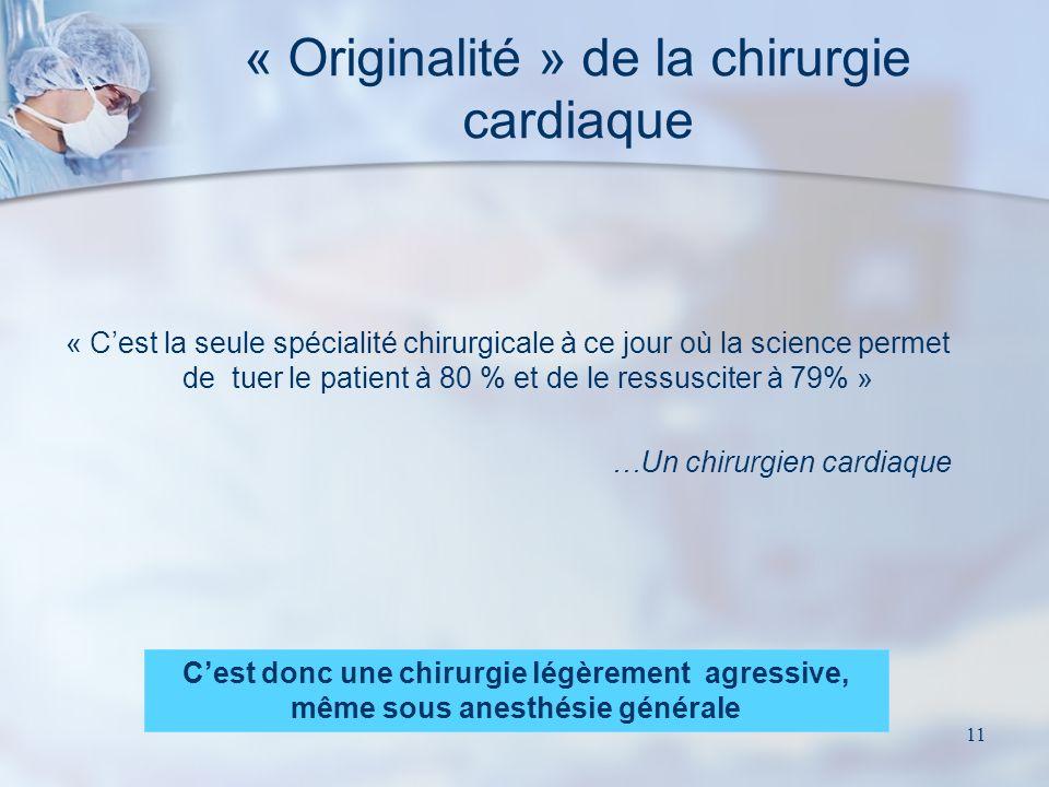 « Originalité » de la chirurgie cardiaque