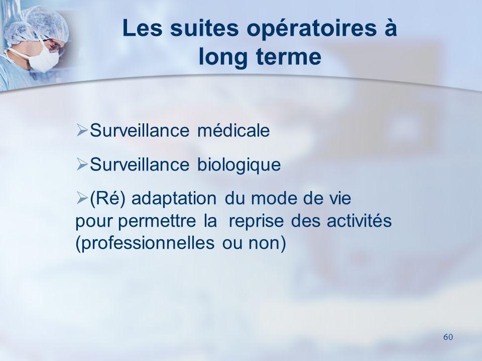 Les suites opératoires à long terme