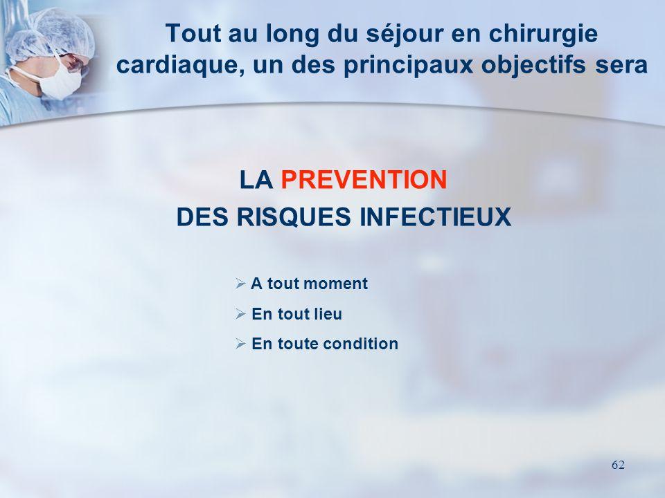 DES RISQUES INFECTIEUX