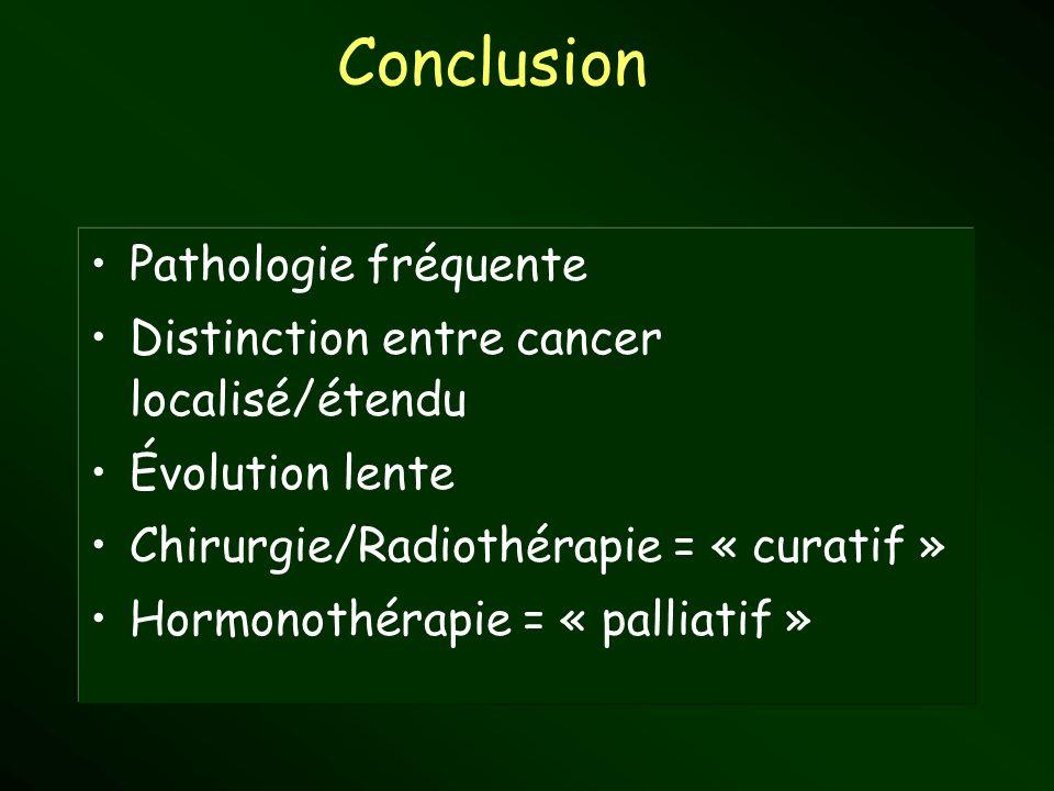 Conclusion Pathologie fréquente
