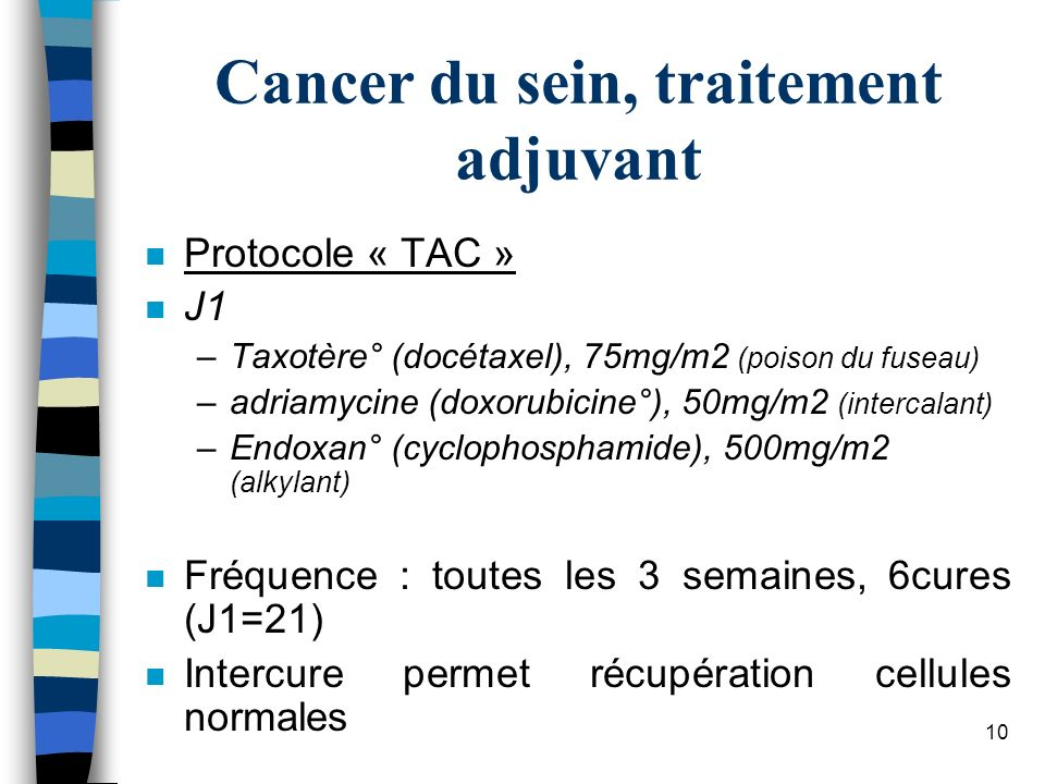 Cancer du sein, traitement adjuvant