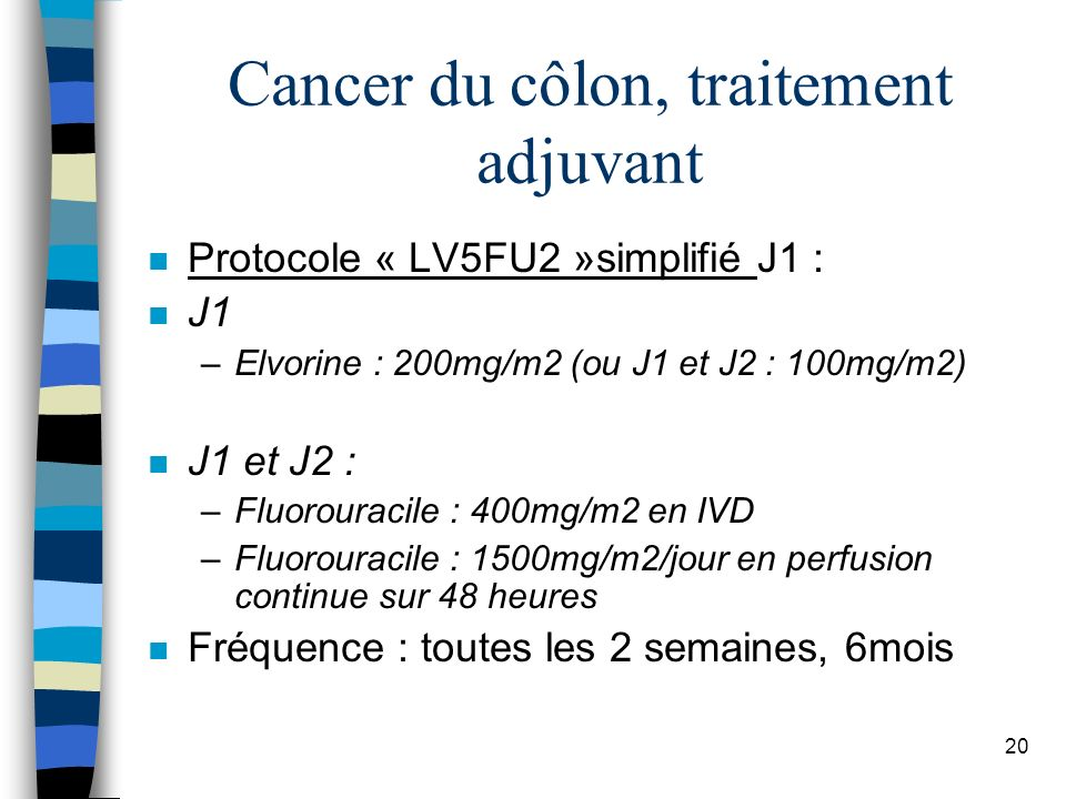 Cancer du côlon, traitement adjuvant