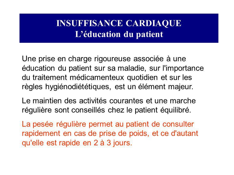 INSUFFISANCE CARDIAQUE L'éducation du patient