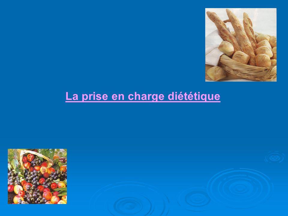 La prise en charge diététique