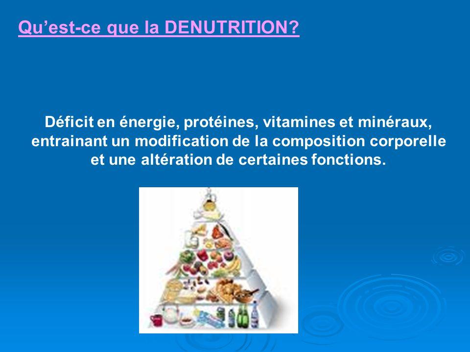 Qu'est-ce que la DENUTRITION