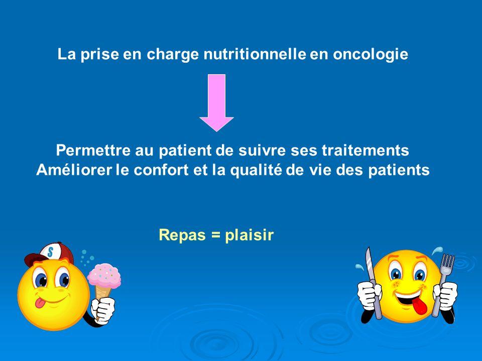 La prise en charge nutritionnelle en oncologie