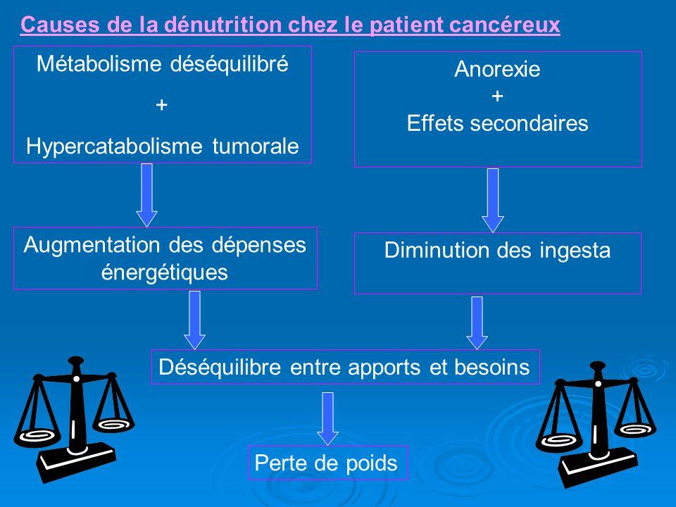 Causes de la dénutrition chez le patient cancéreux