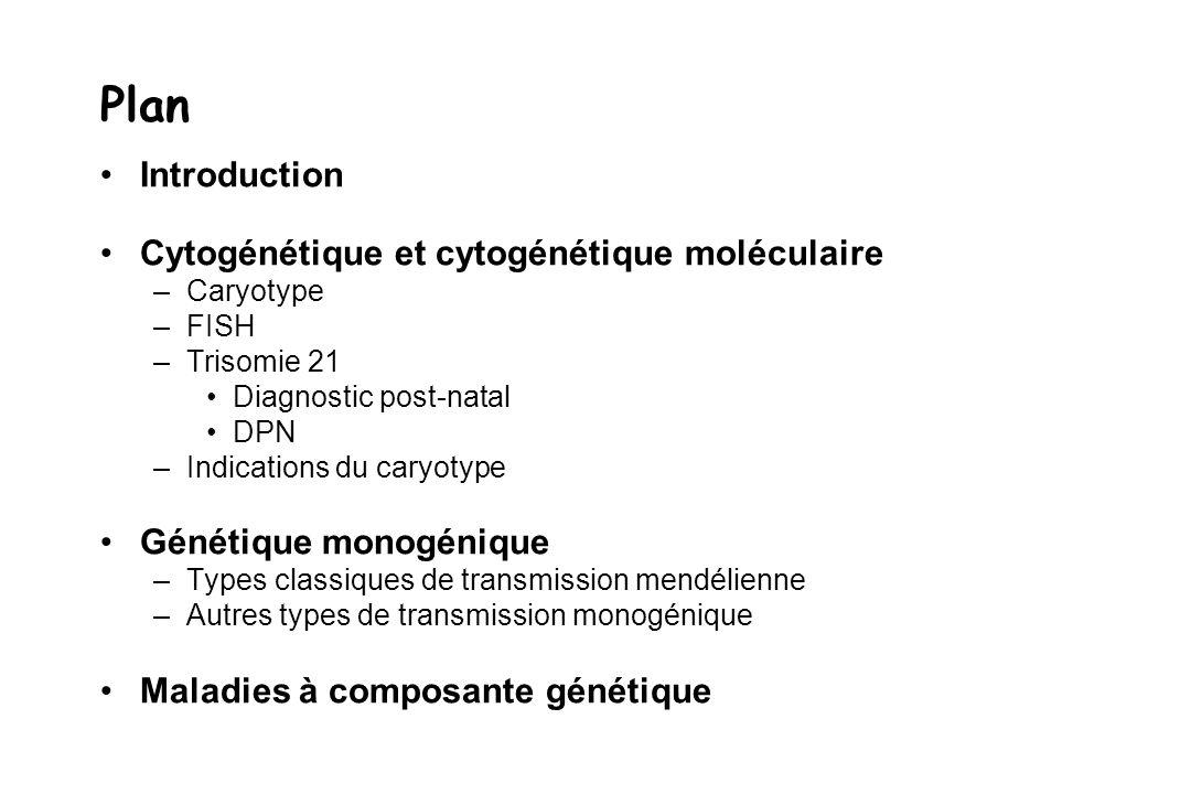 Plan Introduction Cytogénétique et cytogénétique moléculaire
