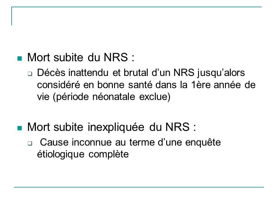 Mort subite inexpliquée du NRS :