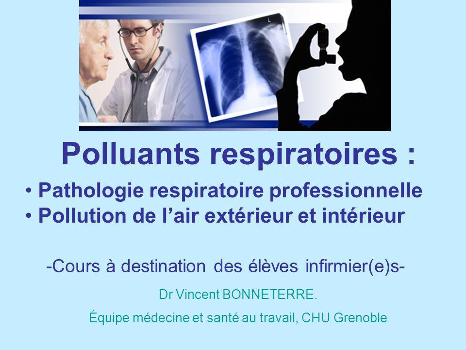 Polluants respiratoires :