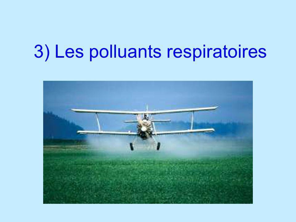 3) Les polluants respiratoires