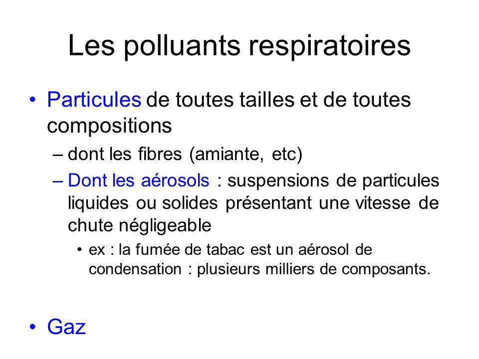 Les polluants respiratoires