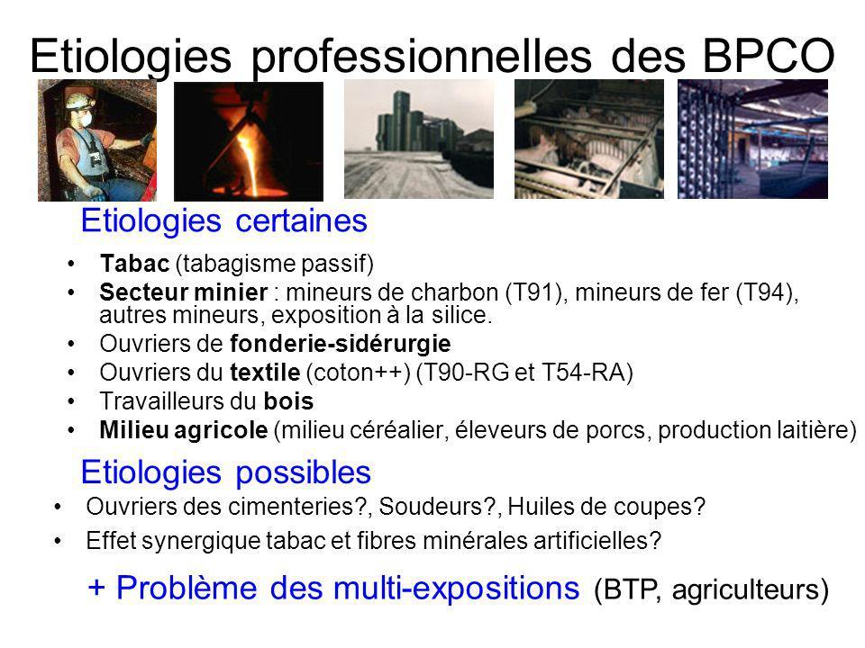 Etiologies professionnelles des BPCO