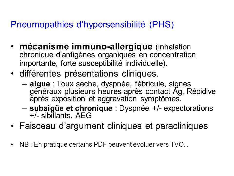 Pneumopathies d'hypersensibilité (PHS)