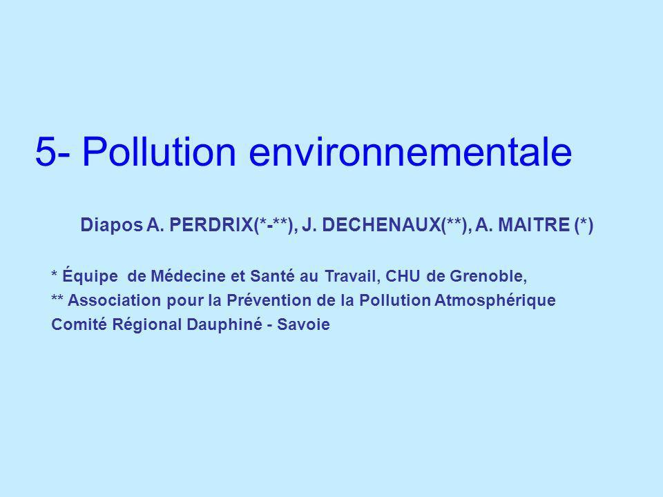 5- Pollution environnementale
