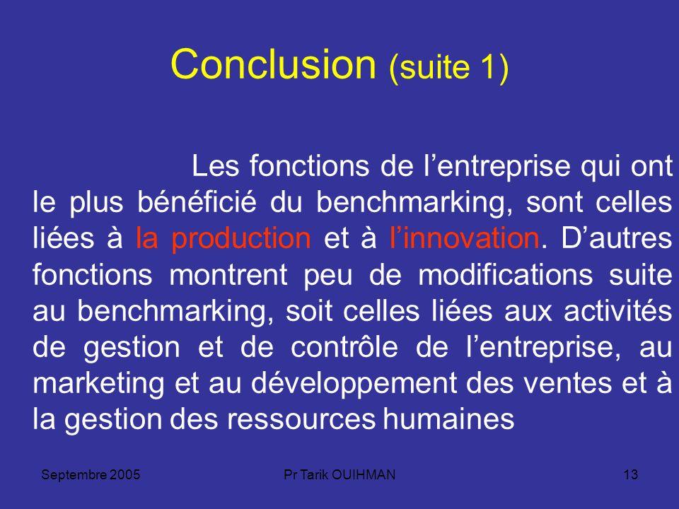 Conclusion (suite 1)