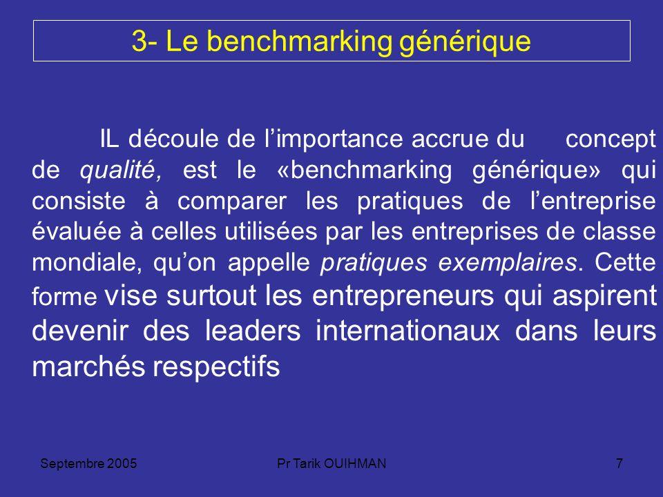 3- Le benchmarking générique