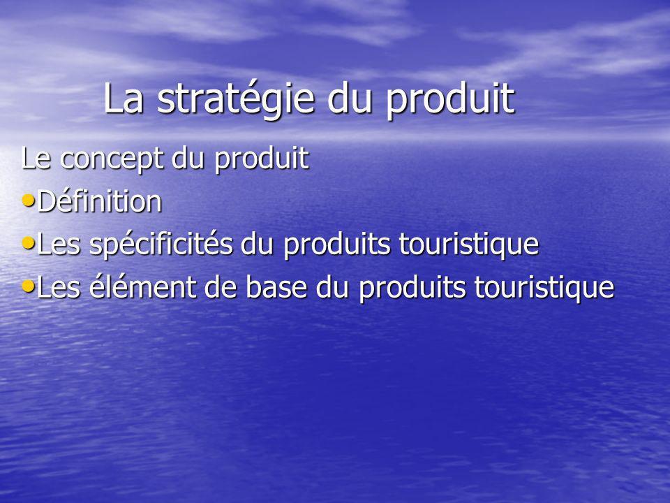 La stratégie du produit