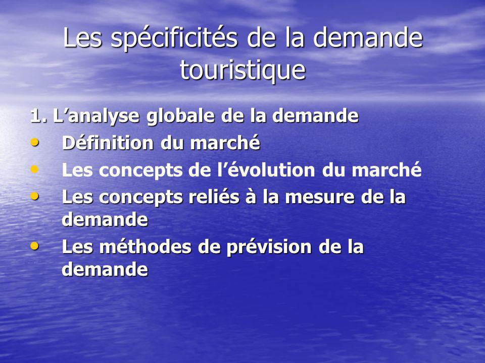 Les spécificités de la demande touristique