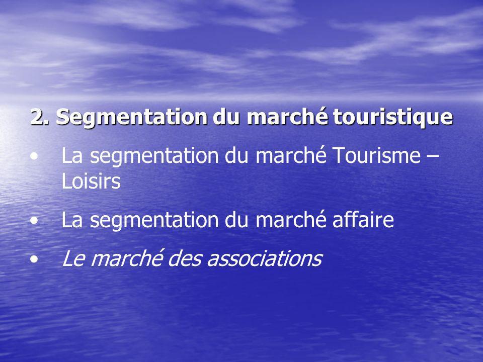 2. Segmentation du marché touristique