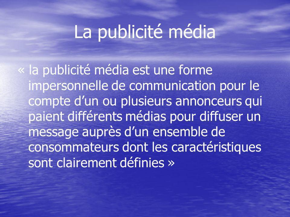 La publicité média