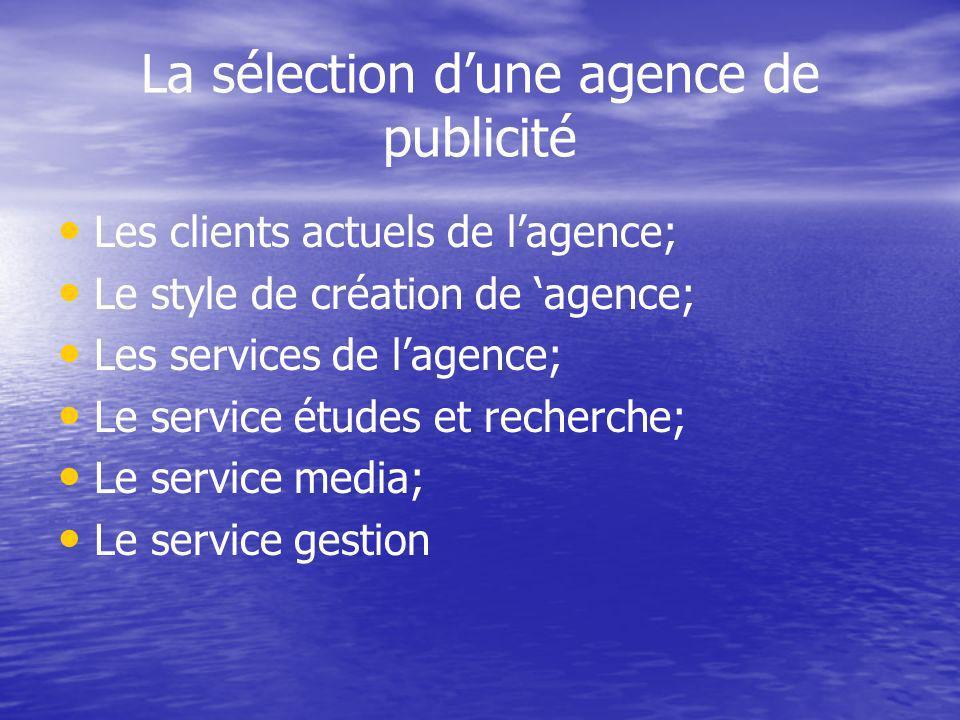 La sélection d'une agence de publicité