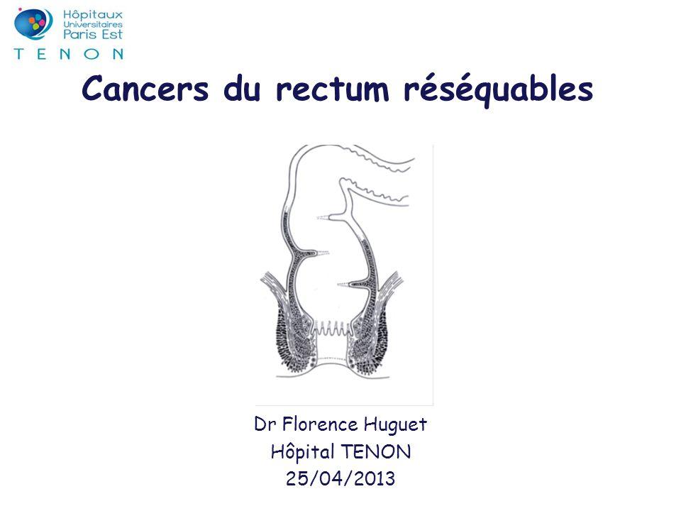 Cancers du rectum réséquables