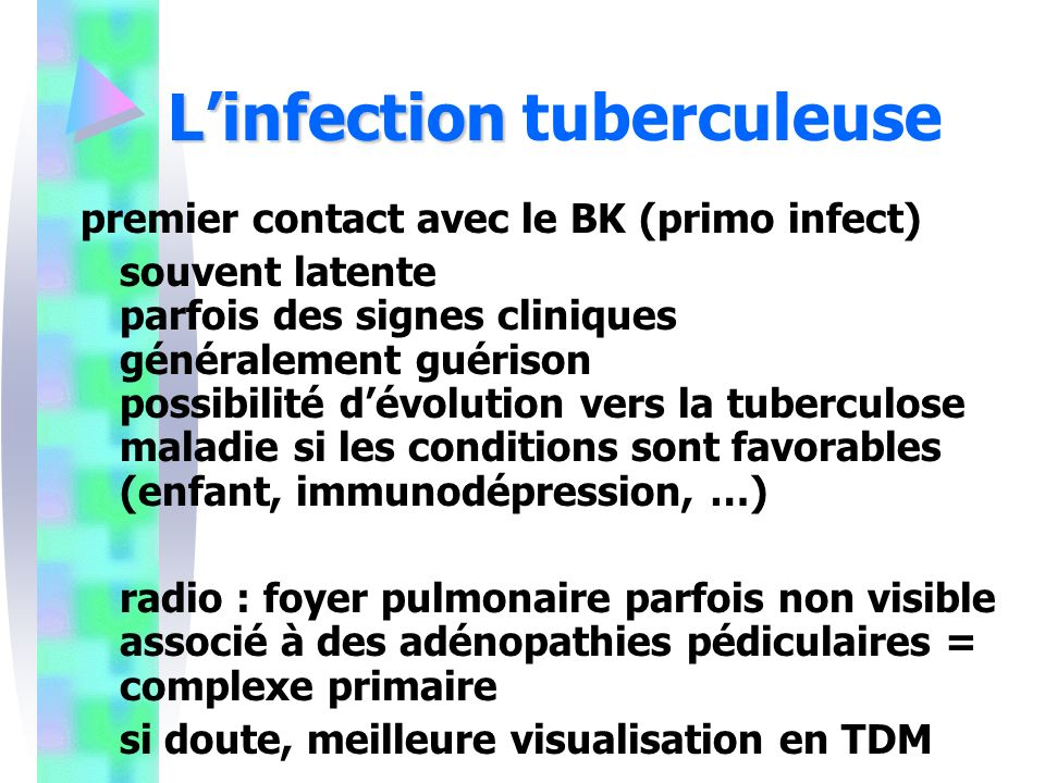 L'infection tuberculeuse