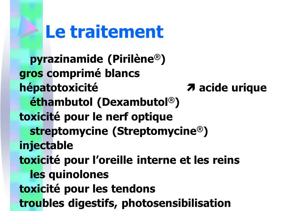 Le traitement pyrazinamide (Pirilène®) gros comprimé blancs