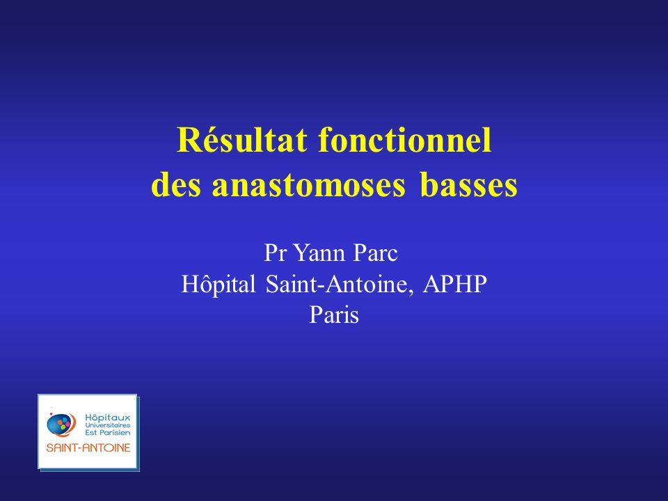 des anastomoses basses
