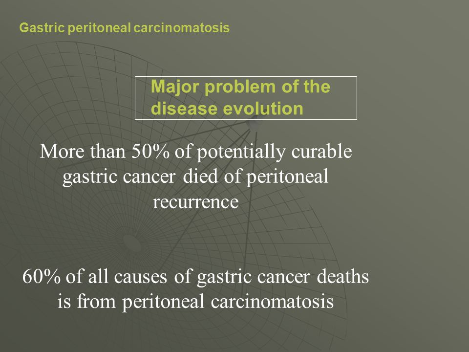 Gastric peritoneal carcinomatosis