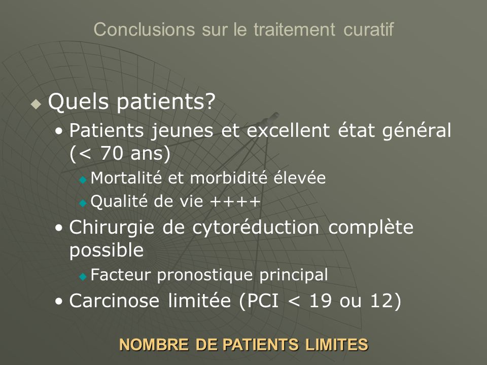 NOMBRE DE PATIENTS LIMITES